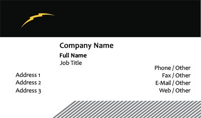 Lightning Bolt Business Card Template